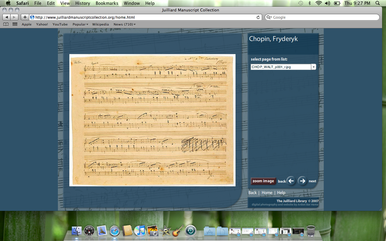 Juilliard Manuscript Collection