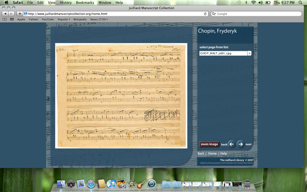 Juilliard Manuscript Collection
