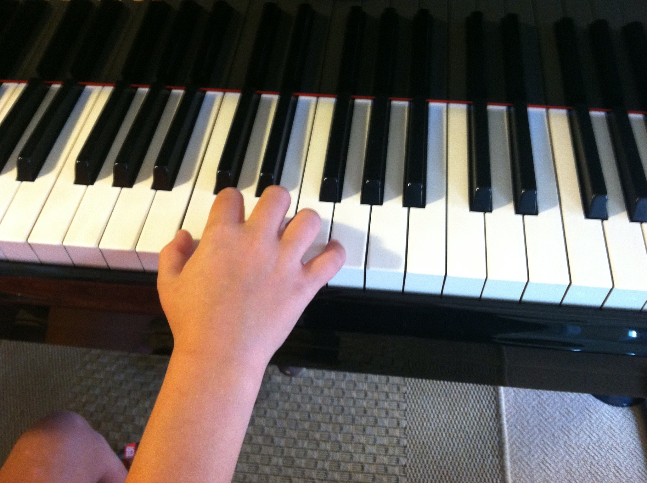 Kylie demonstrating beautiful piano hand