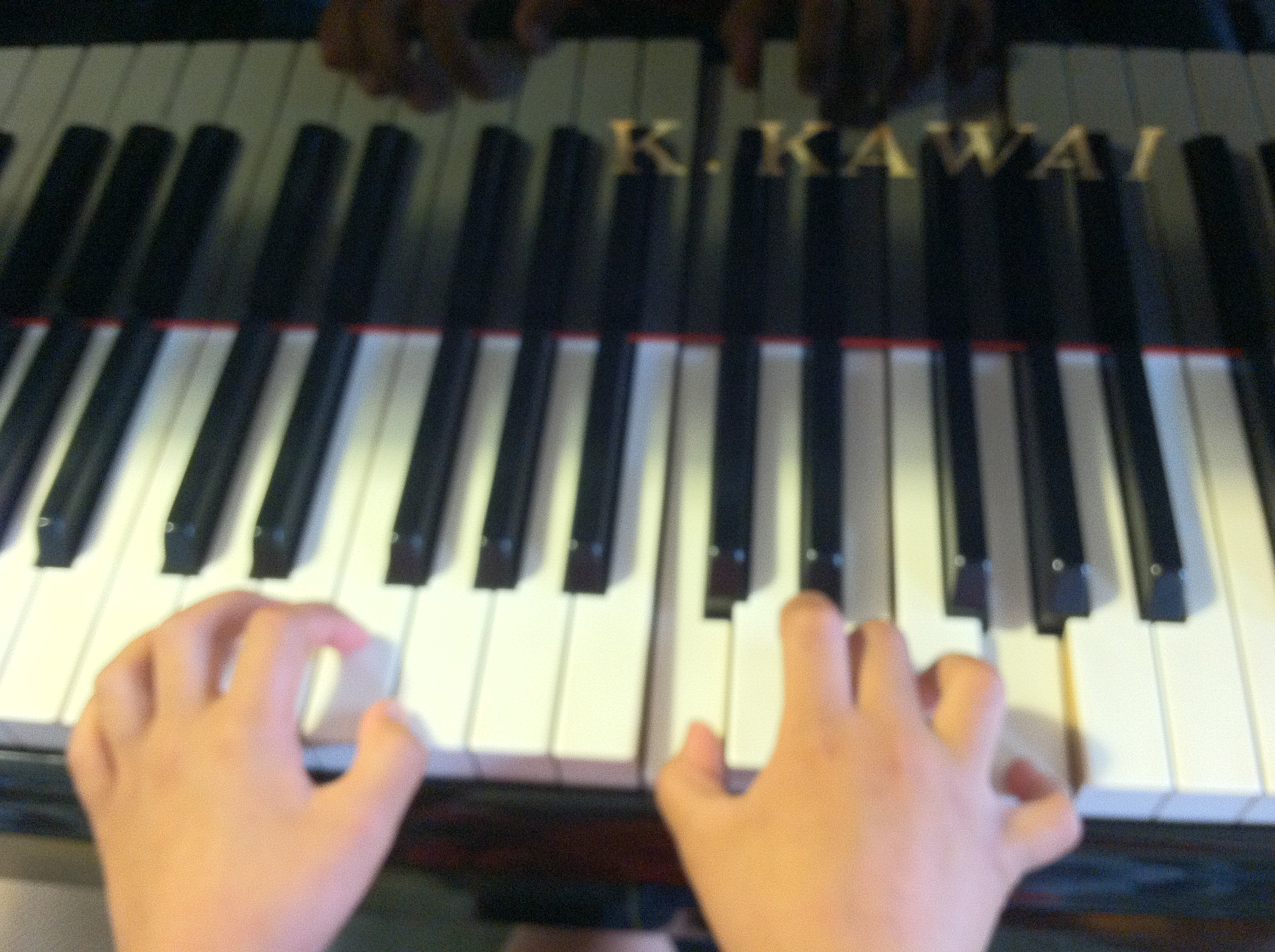 Maggie Collera - demonstrating beautiful piano hand positions